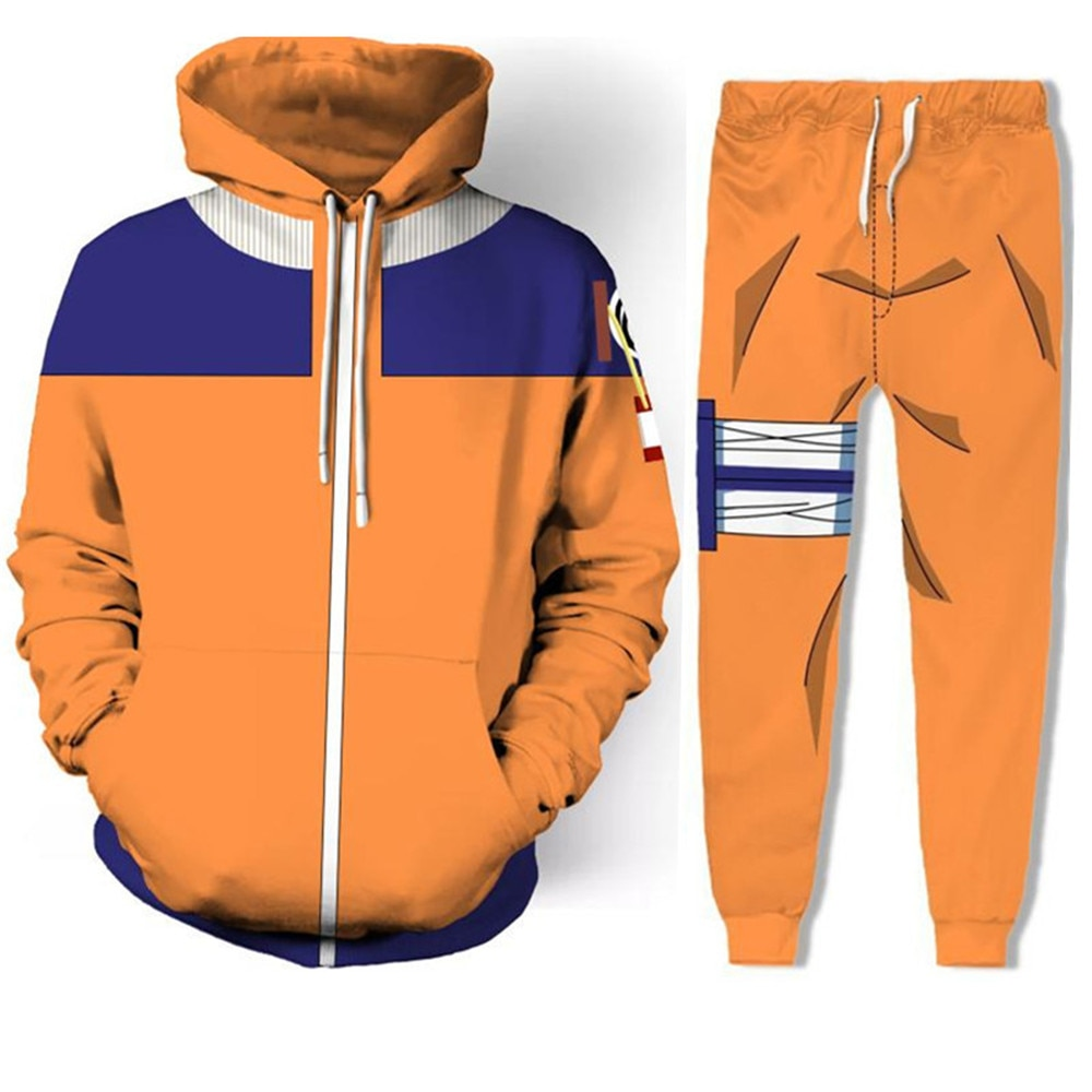 Cosplay NARUTO Uzumaki Naruto/hateke Kakashi coat 3D impresión cremallera suéter/pantalones abrigo chaqueta trajes conjunto completo superior hombres/mujeres