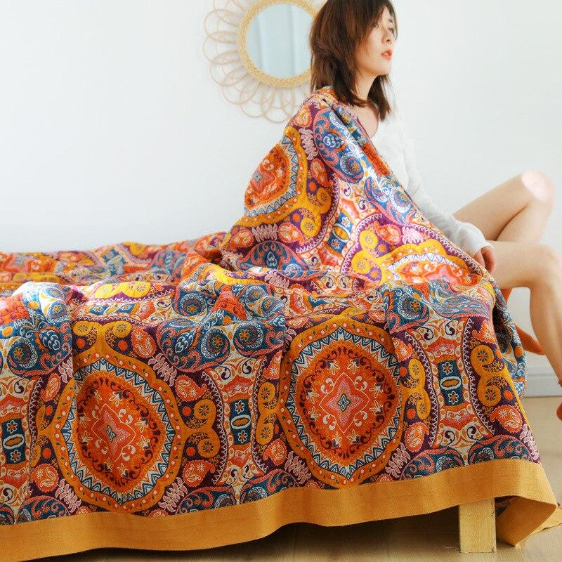 القطن الشاش منشفة الشاش رمي بطانية الاطفال لينة منقوشة للبالغين على/السرير/أريكة/الطائرة/السفر المفرش ملاءات