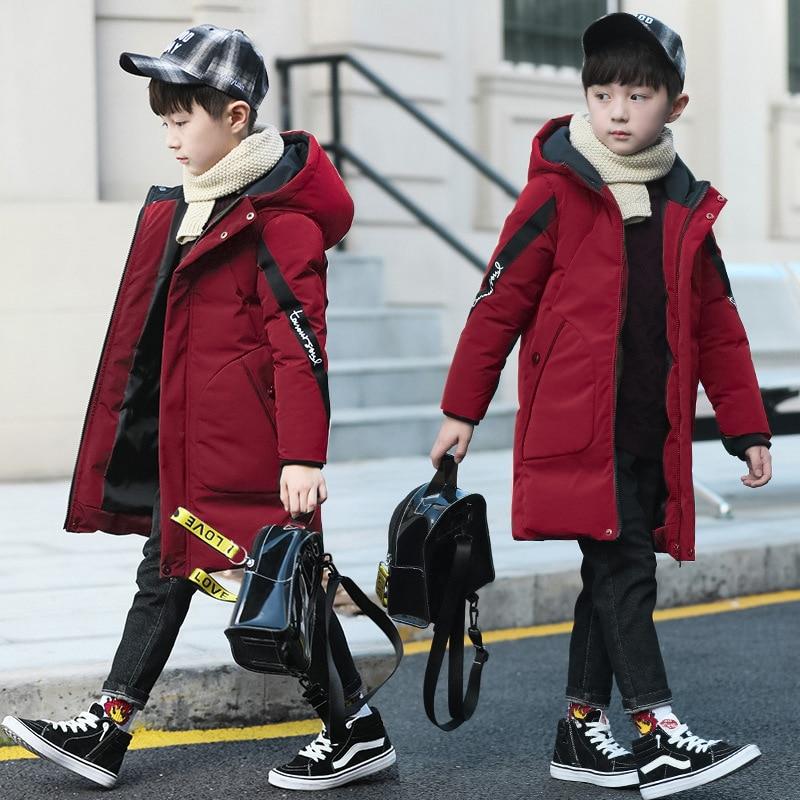 -30 Degrees Warm Winter Jacket Kids Parka For Boy Down Jacket Hooded coat Waterproof Teenage Jacket