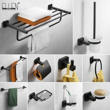 SUS 304 noir acier inoxydable salle de bain matériel ensemble porte-serviettes porte-papier porte-serviettes accessoires de salle de bain EL8900B