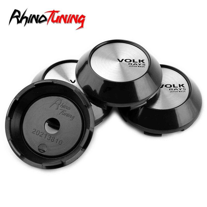 4 Uds 68mm 62mm rayos tapa central de rueda de coche para llantas Volk rayos tapas cubo emblema para Rota Slipsteam Advan RS Konig pluma