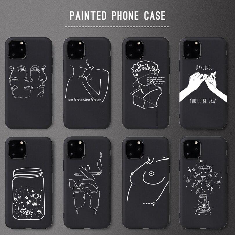Design créatif Fille Sexy En Silicone Souple Pour iPhone 5 S SE X Etui pour Téléphone Pour iPhone 6 6s 7 8 Plus X Max XR 11Pro Étui Mat