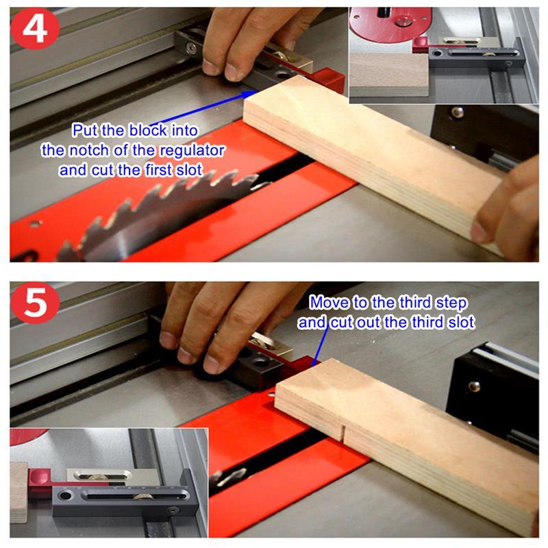 Ruler Woodworking Gap Gauge Multifunction Saw Table Slot Regulator Movable Measuring Block Length Compensation Tool enlarge