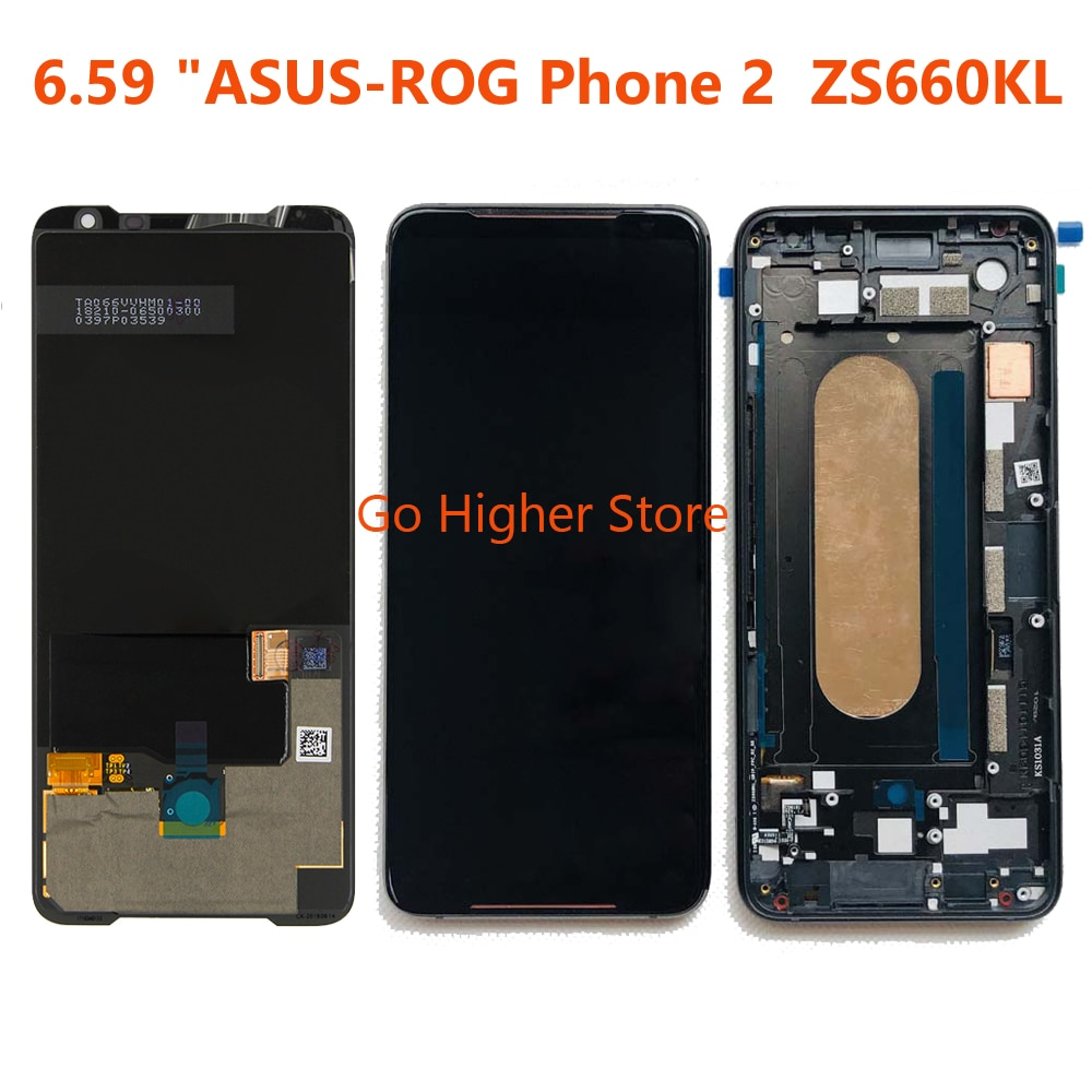 "Pantalla Lcd AMOLED para teléfono ASUS ROG de 6,59 ""2 Phone2 Phone2 PhoneⅡ ZS660KL pantalla LCD AMOLED con reparación de montaje de Marco + Digitalizador de Panel táctil"