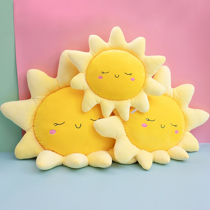 100pcs lot 35cm 14 kawaii smiley emoji plush pillow with zipper only skin without pp cotton soft cute toys cushion covers 098 Cute Baby Pillow Newborn Soft Down Cotton Plush Cushion Sun Clouds Shape Home Bedding Baby Decorative Room Toys Kids Gift