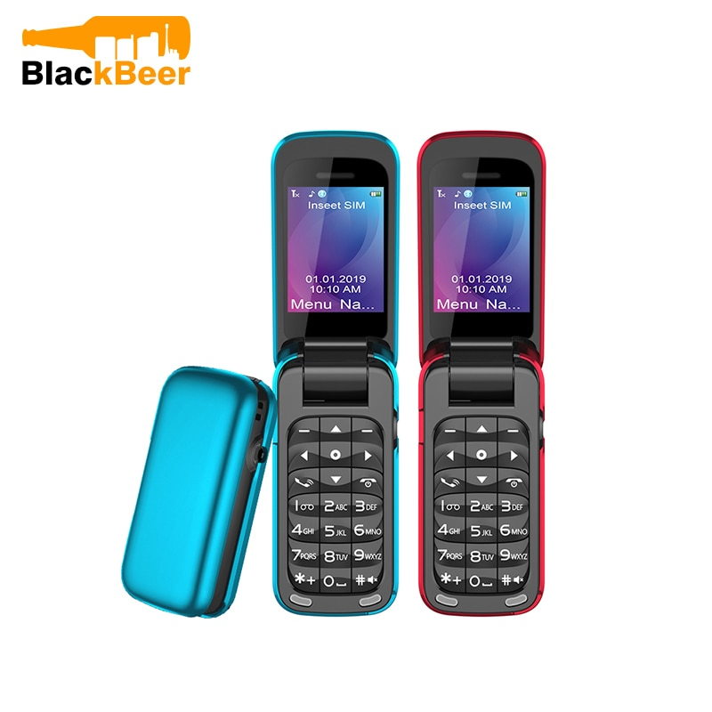 UNIWA 8star BM60 Mini Flip Music Phone Bluetooth Dial Mobile phone FM Radio Magic Voice changer 3.5 Earphone Jack Mp3 player