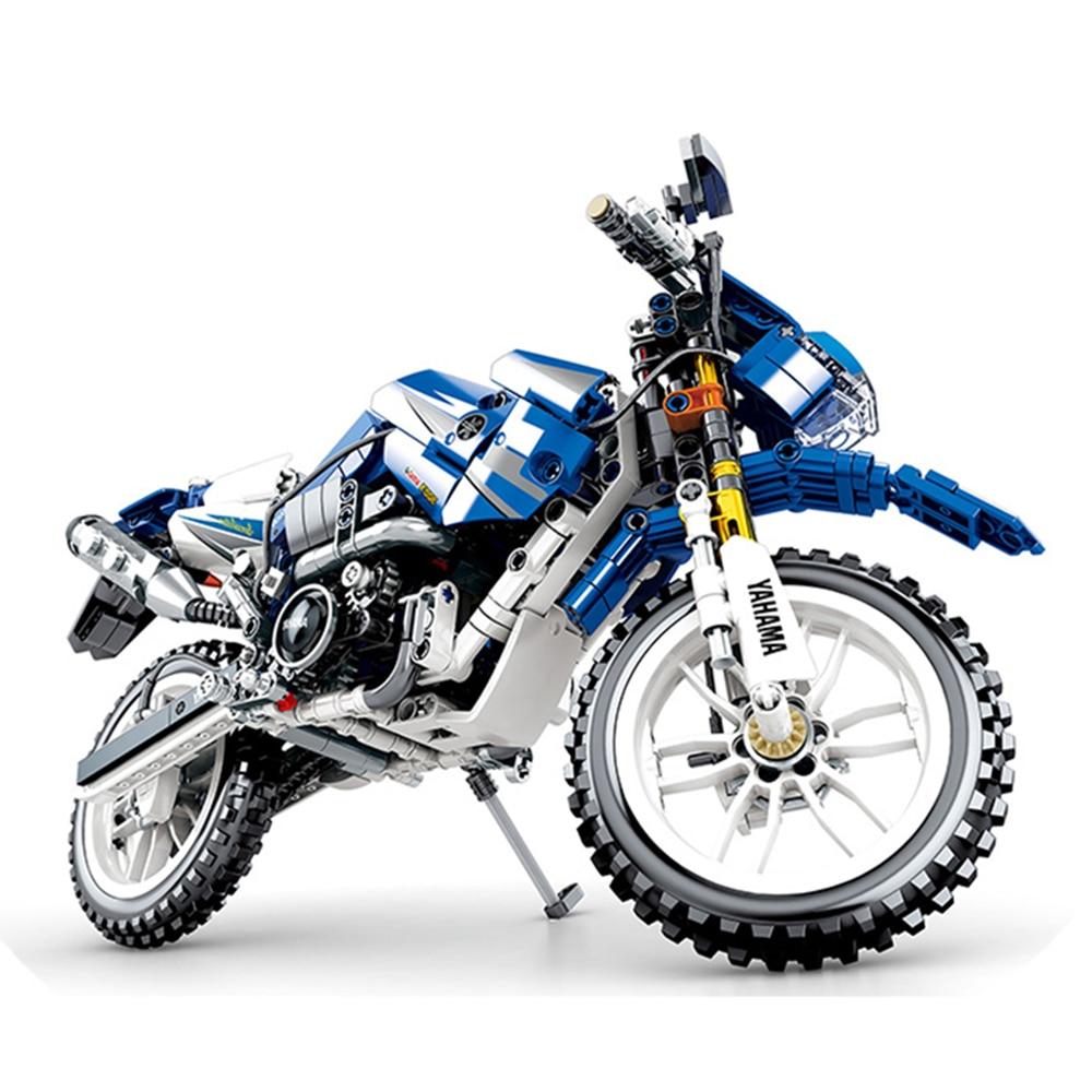 Technic motorcycle WR250R Moto Cross Bike Building Blocks Bricks Classic Model Kids Toys Compatible