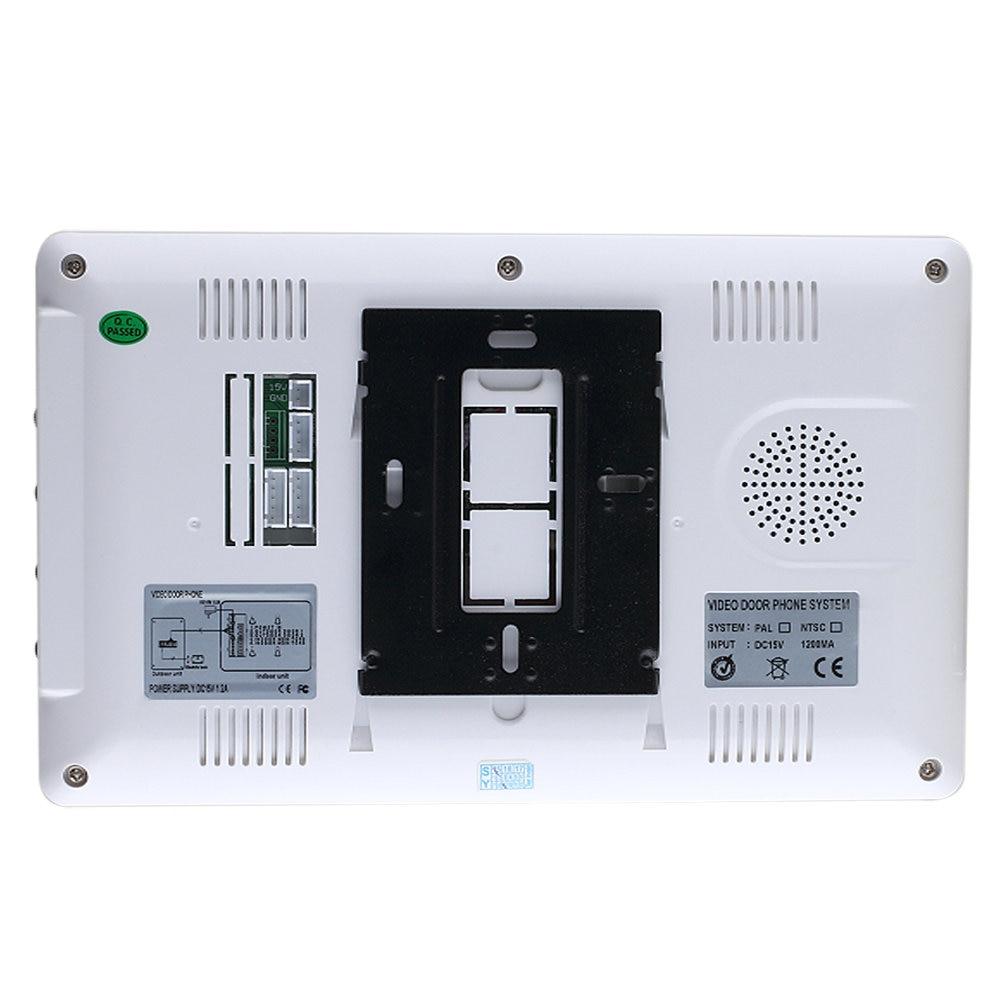 Visual Intercom Doorbell 7'' TFT Color LCD Wired Video Door Phone System Indoor Monitor 700TVL Outdoor IR Camera enlarge