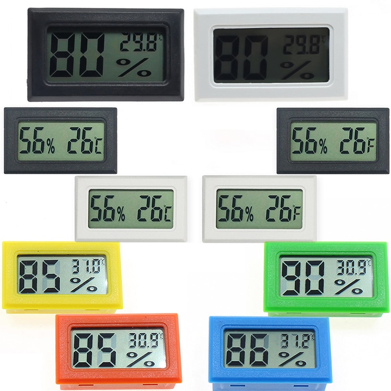 Thermometer Hygrometer Mini Electronic Embedded Digital Thermometer Humidity Gauge Thermometer Humidity Electronic Instruments