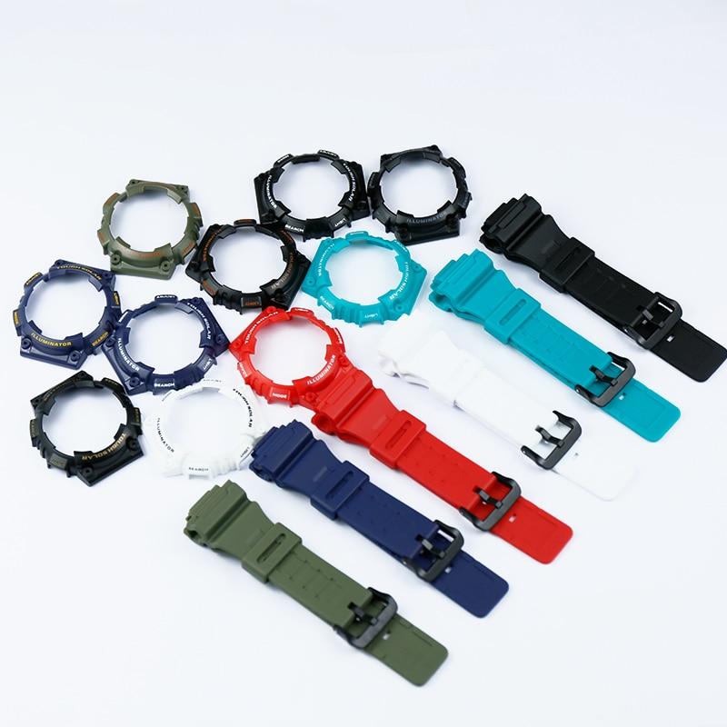 Accesorios de reloj hebilla de pin adecuado para Casio resina funda con correa reloj de hombre con AQ-S810W AQS810WC deportes correa de reloj impermeable