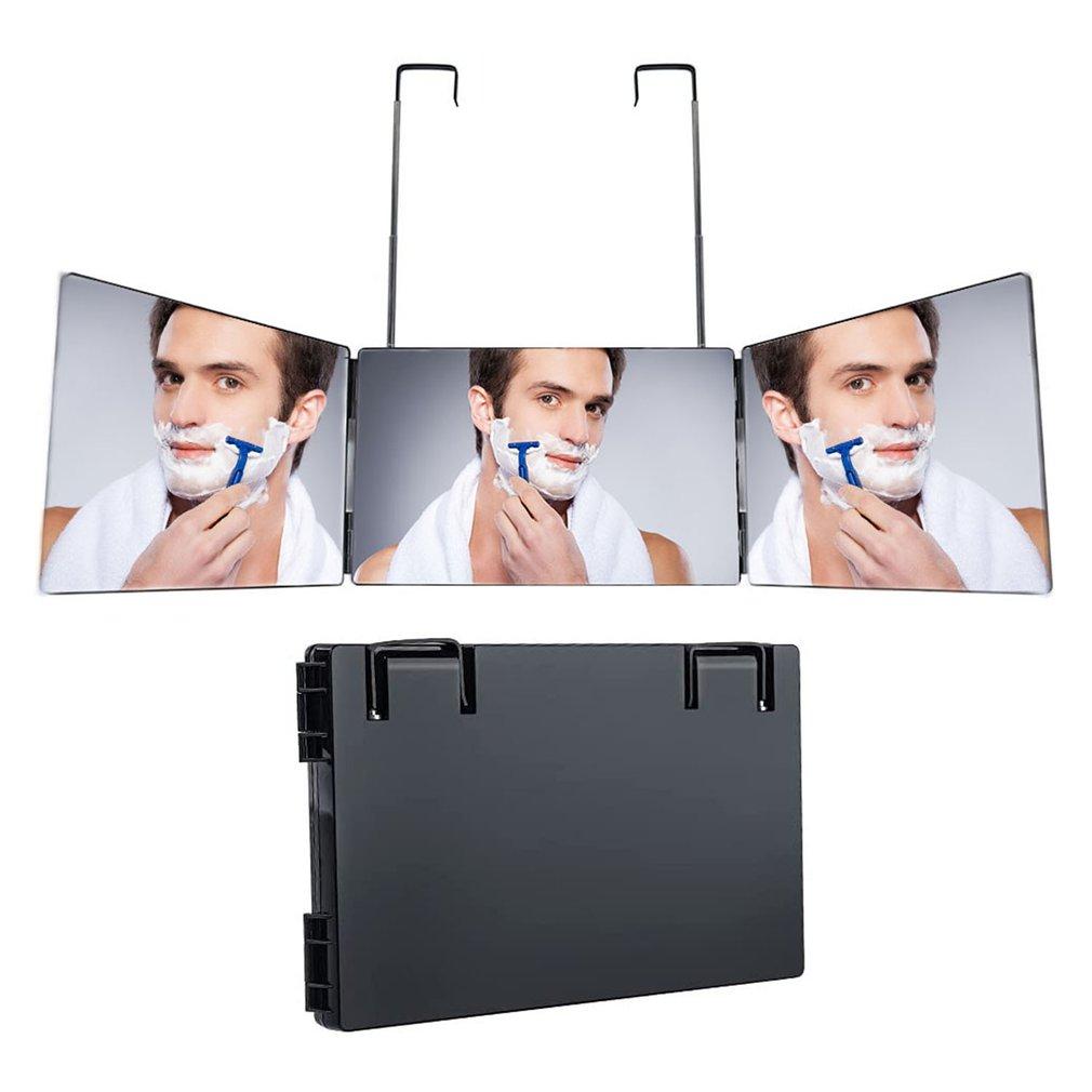 3 طريقة مرآة قابل للتعديل ثلاثة أضعاف مرآة الذاتي قص الشعر والتصميم DIY بها بنفسك أداة حلاقة لبطاقة ماجيك اكسسوارات المرحلة المرايا