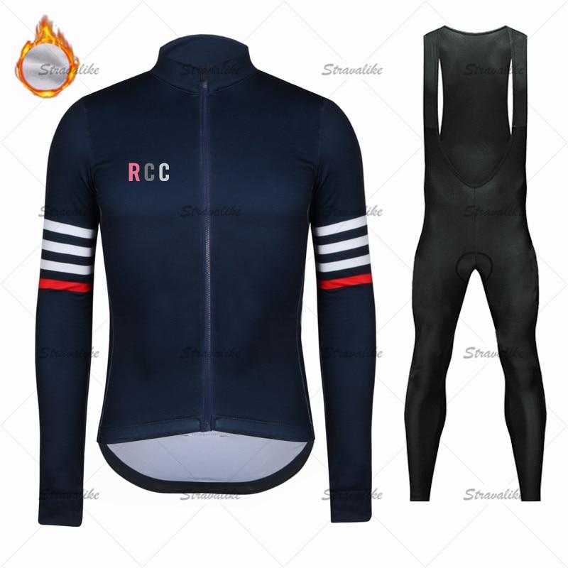 RCC Ralvpha-ropa de ciclismo de manga larga para hombre, conjunto de ciclismo...