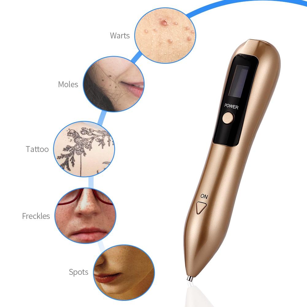 9 level LCD Plasma Pen Laser Mole Removal Skin Corn Freckle Tag Nevus Dark Age Sweep Spot Tattoo Remover Electric Machine