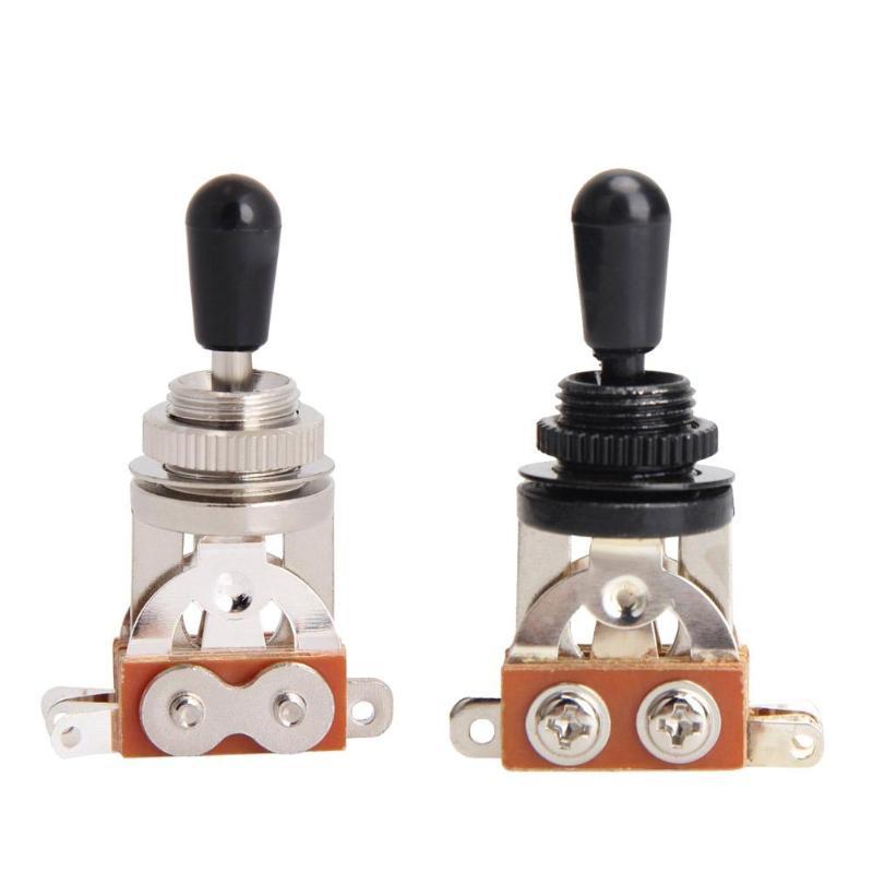 Durable interruptor de palanca de 3 vías portátil hábil fabricación Placa de anillo de arandela de ritmo agudo para guitarra eléctrica LP SG