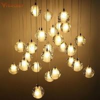 Luxury chandelier light creative crystal ball chandelier LED restaurant ball crystal ball Pendant lamp