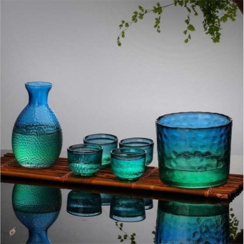 Wine Glass Set Japanese Style Divide Hand Made Heat Resistant Warmer