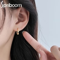 new twist wave hoop earrings for women girls elegant round earring minimalism trendy jewelry gold silver color party accessories
