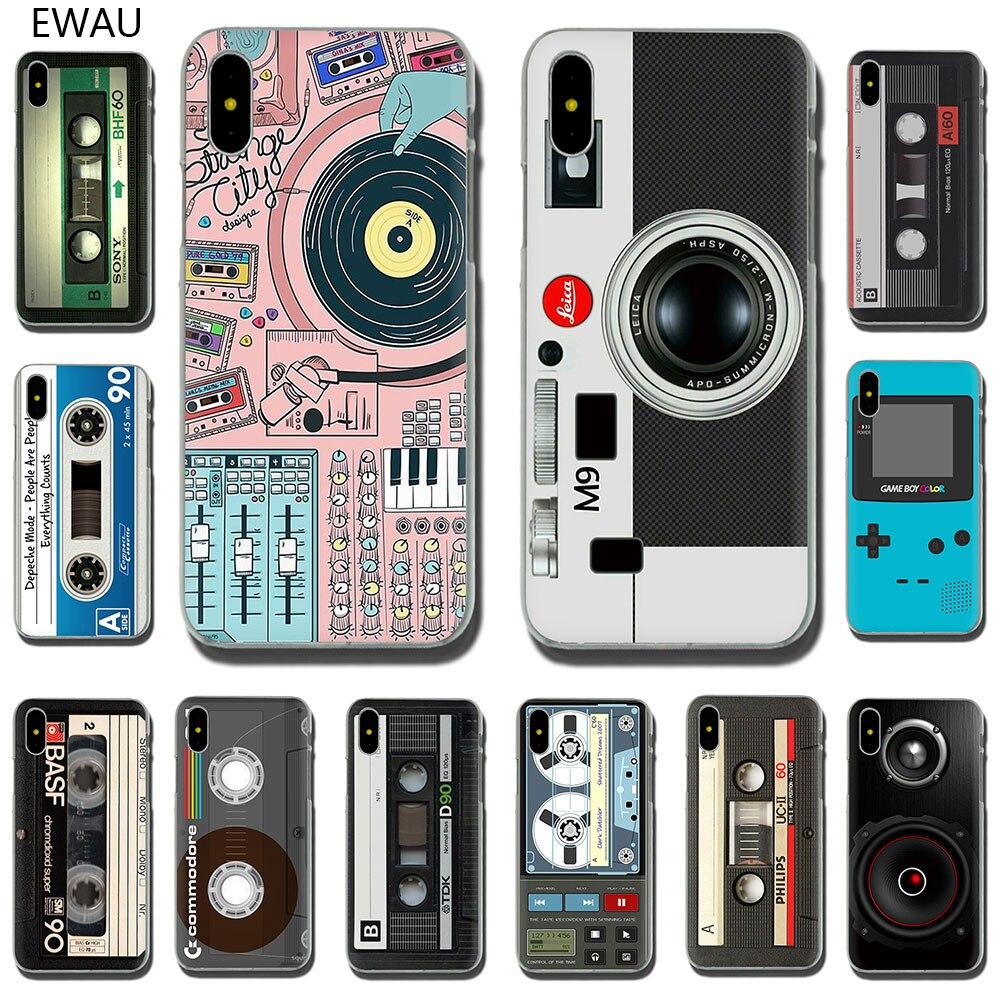 EWAU de moda retro mix cinta de cassette volumen Cámara caso de la cubierta del teléfono duro para iPhone SE 2020 11 Pro 6S 6 7 8 Plus X XS X XR XS.