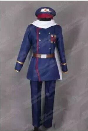 Anime Hetalia APH Unión Soviética Rusia Ivan braguinskiy y Cosplay disfraces militares uniforme