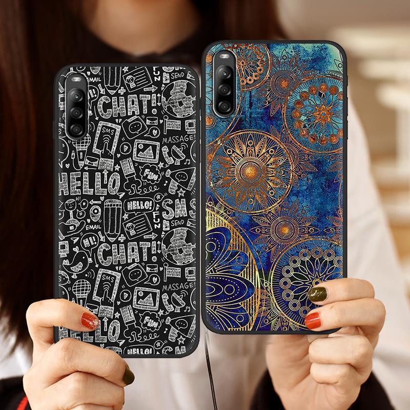 Fosco Suave Caso Caixa Do Telefone Para Sony Xperia L4 envoltório Completo Silicone Bonito Dos Desenhos Animados Nova Chegada Nova