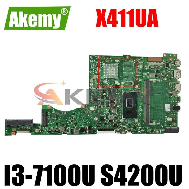 Akemy X411UA اللوحة لابتوب ASUS VivoBook-14 X411UA X411UQ X411UN X411U S4200UQ I3-7100U S4200U الأصلي GM