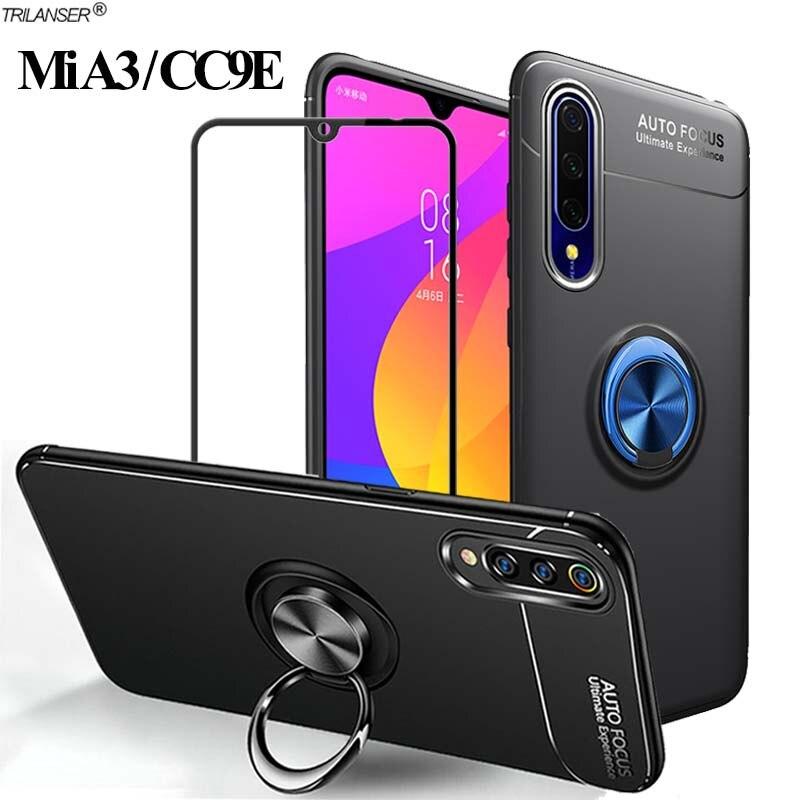 360 Ring Case For Mia3 Xiaomi A3 Magnetic Stand Holder Cover Xiomi-Mi-A3 Shockproof Bumper Cases Mia 3/A 3 Xiomi cc9e Silicone