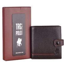 TRG POLO 27493 REAL LEATHER MEN'S WALLET BROWN CARD HOLDER