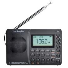 Карманное радио K603, AM, FM, SW, FM, портативный ЖК дисплей, Bluetooth, карманная Поддержка TF карт, USB, рекордер, радио