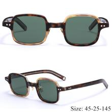 Vintage retro quality character square sunglasses imported acetate frame polarized lens fashion orig