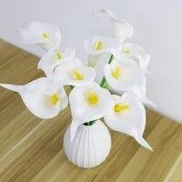 5pcspack artificial flower calla for wedding home decoration bedroom diy garland handwork flower arrangement craft flowers