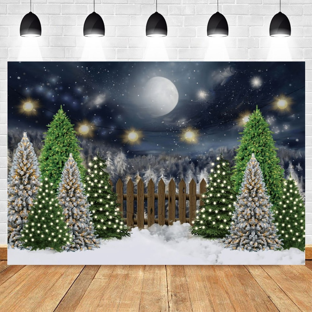 vintage wood board winter christmas tree branch photography backdrop vinyl photographic background for photo studio photophone Winter Forest Snowflake Christmas Tree Backdrop Baby Portrait Vinyl Photography Background For Photo Studio Photophone Photocall
