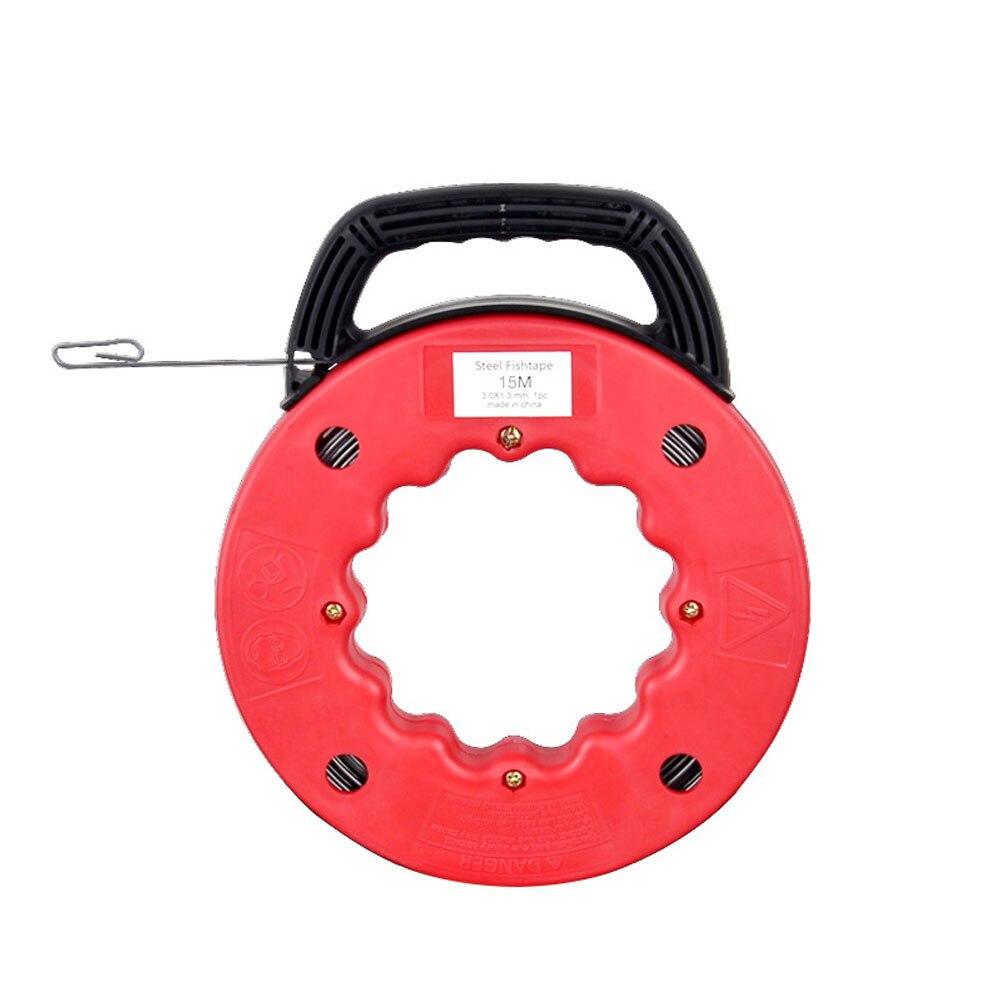 المحمولة عجلة بولير البلاستيك تلميح شريط التقاط الاسماك مجاري الهواء بكرة سلك كابل كهربائي قياس قناة صلب أدوات رودر