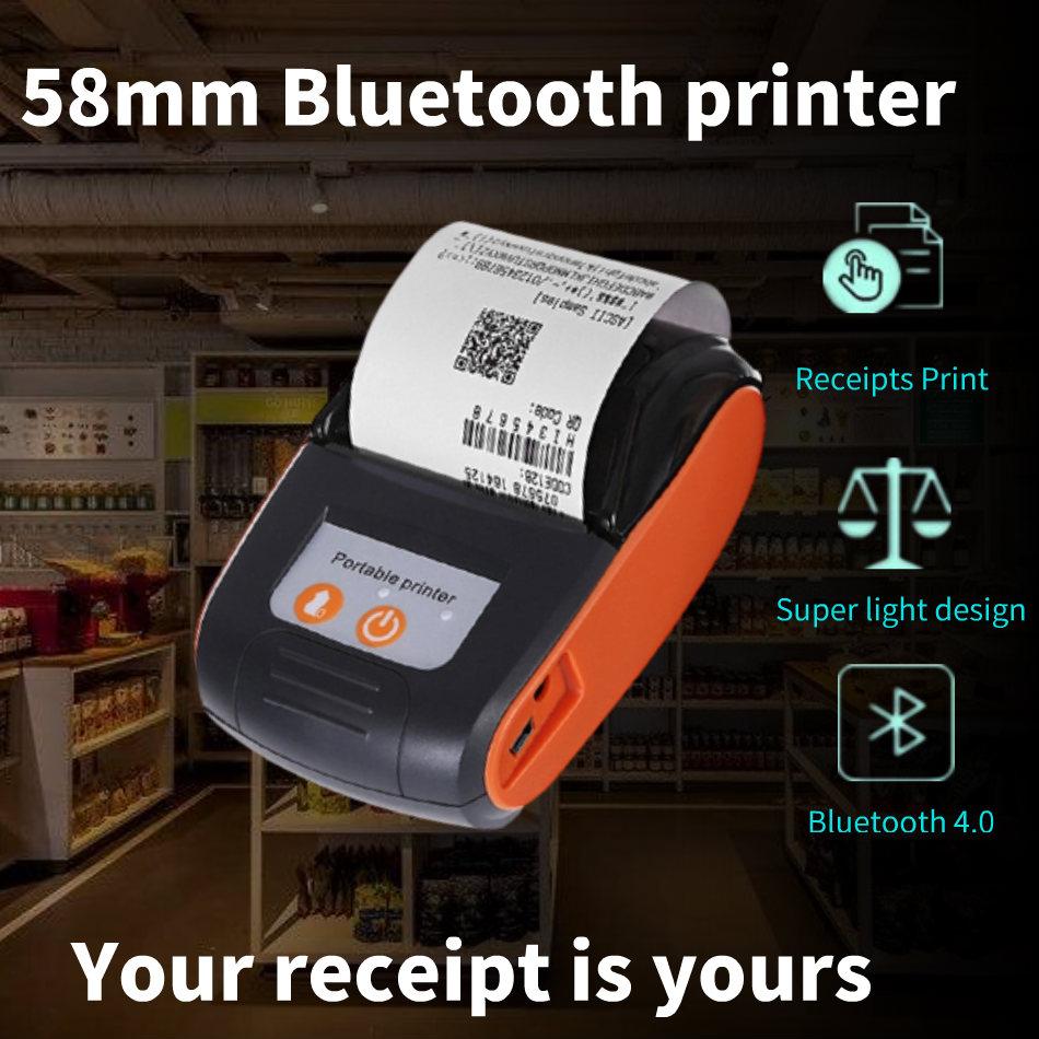 58mm Bluetooth Pocket Portable Thermal Receipt Printer Mini Wireless Notes Phone Printer Android IOS PC Free APP Bill Impresoras