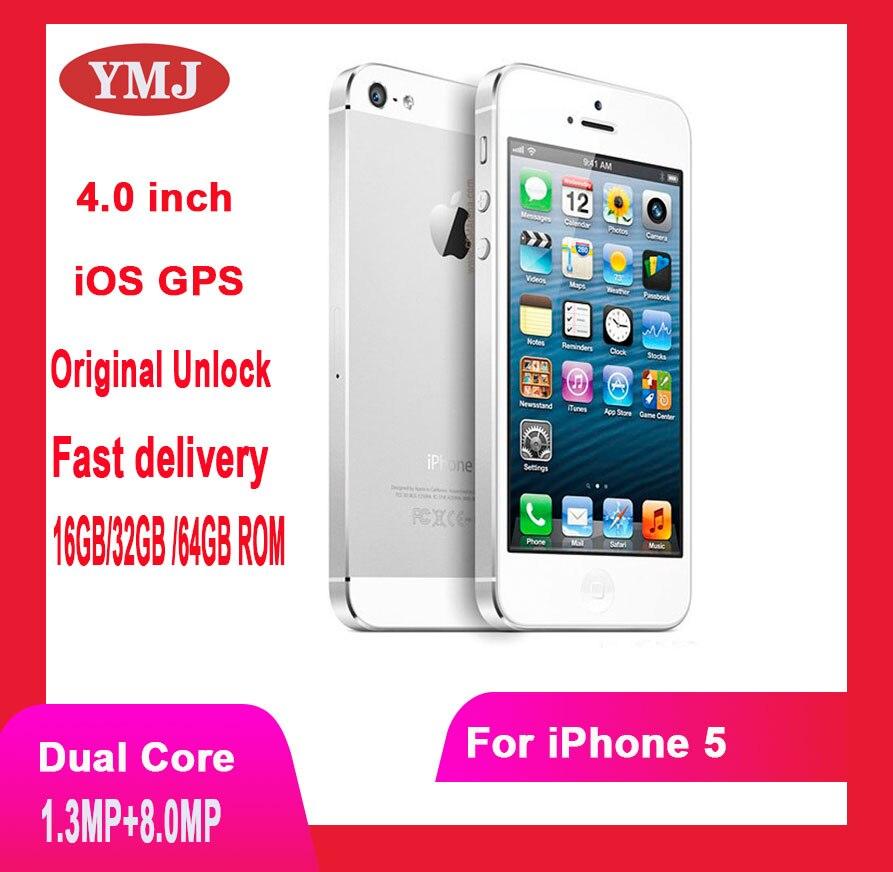 Unlocked Original Apple iPhone 5 Smartphone GSM 3G Mobile Phone 16GB 32GB 64GB ROM Wifi 8MP 4.0