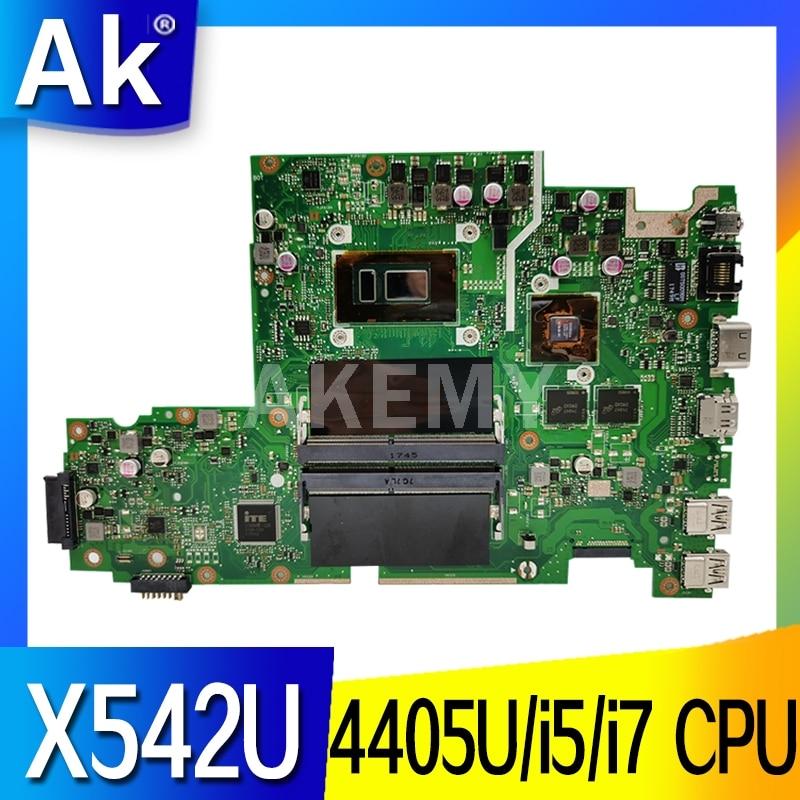 Para For Asus X542U X542UR X542UQ X542UN X542URR X542UQR Laptop motherboard Mianboard 100% trabalho de teste 4405U i5-8250U i7-8550U