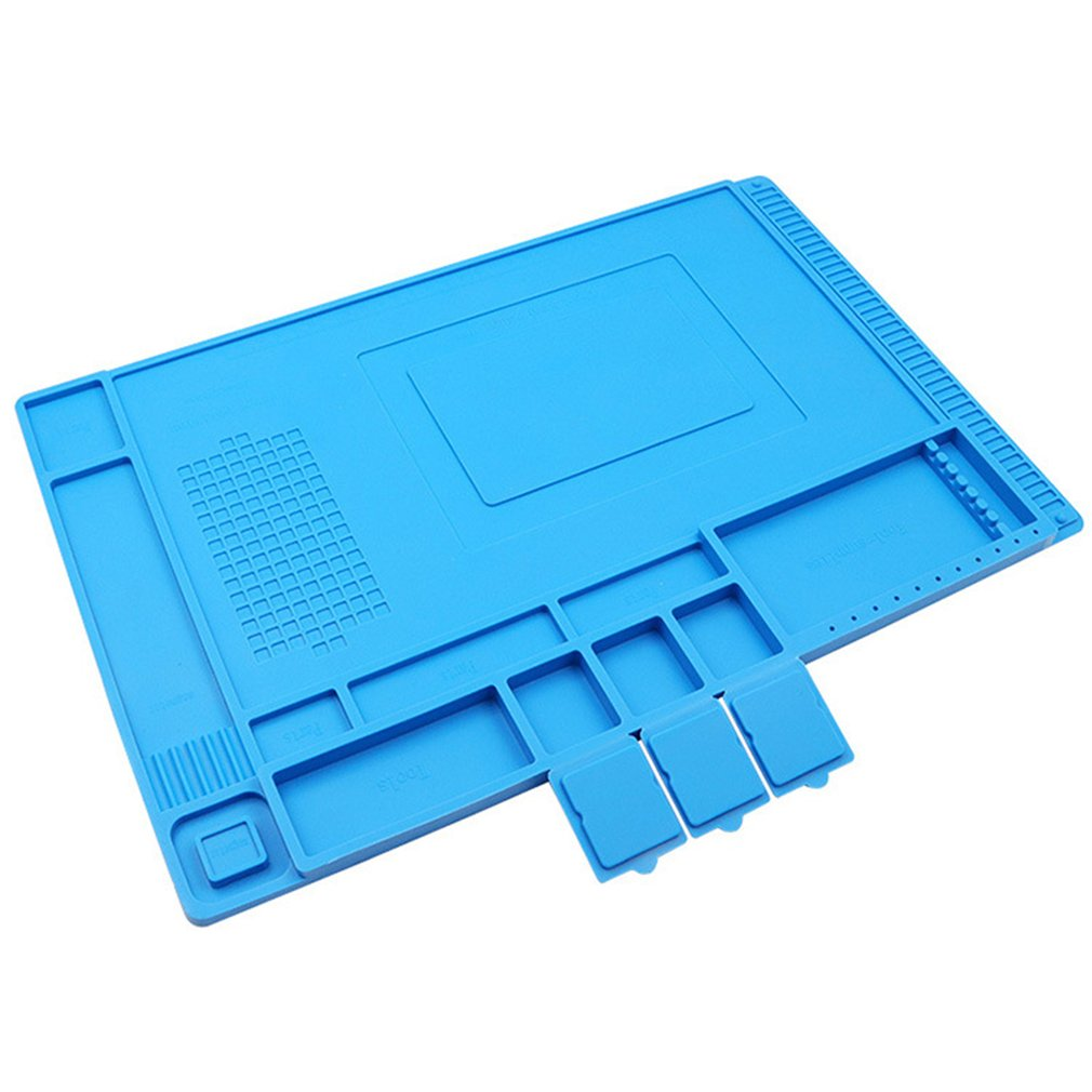 Large Size 45*30cm Soldering Mat With Magnetic Repair Silicone Work Mat For Electronics Computer Phone DIY Welding Tool