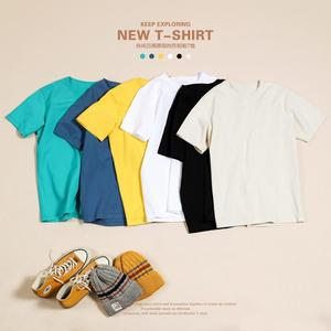 SIMWOOD 2021 Summer New 100% Cotton White Solid T Shirt Men Causal O-neck Basic T-shirt Male High Quality Classical Tops 190449
