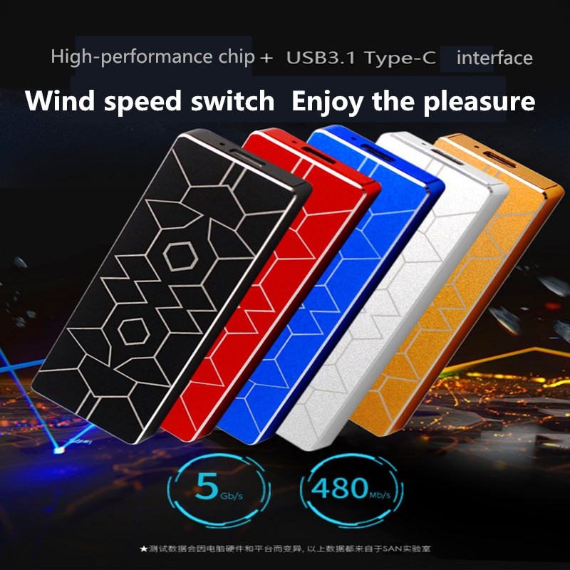 The New M.2 External Solid State Drives 2TB 1TB 500GB  Portable External Hard Drive SSD 2T 1T 500G SSD TYPE-C Mobile SSD New