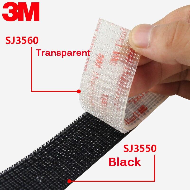 Velcros Adhesivo tipo 250/25, 4mm de ancho, 3M de bloqueo Dual, negro,...