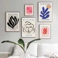 vintage henri matisse retro exhibition posters and prints abstract cut out wall art canvas paintings wall pictures home decor