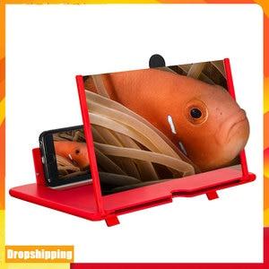 Dropship 12 inch HD Screen Amplifier 3D Mobile Phone Screen Magnifier Phone Holder Magnifying Folding Phone Desk Holder