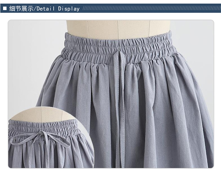 Summer Wide Leg Shorts Women Plus Size Casual short Loose High waist Female Short pants Plus size 8XL
