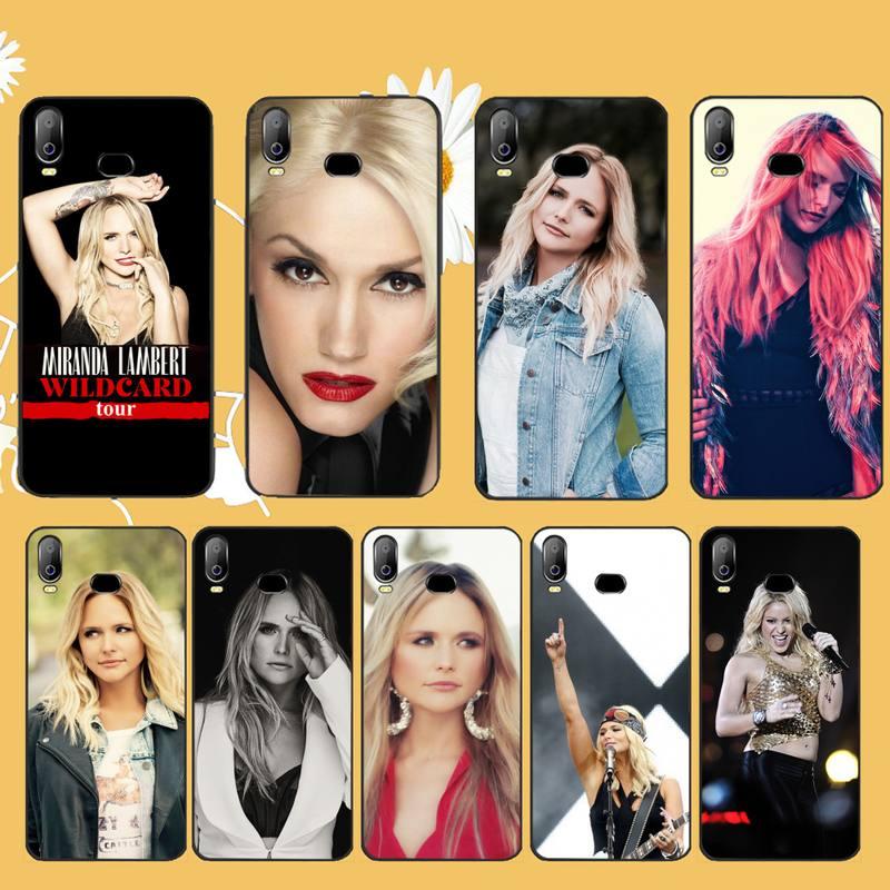 HPCHCJHM cantante Miranda Lambert Coque caja del teléfono de la cáscara del teléfono para Samsung A10 A20 A30 A40 A50 A70 A71 A51 A6 A8 2018