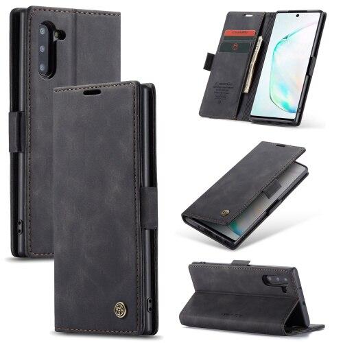 Caseme 013 Series Flip PU cartera ID tarjeta soporte teléfono funda para Samsung galaxy note 10 Plus