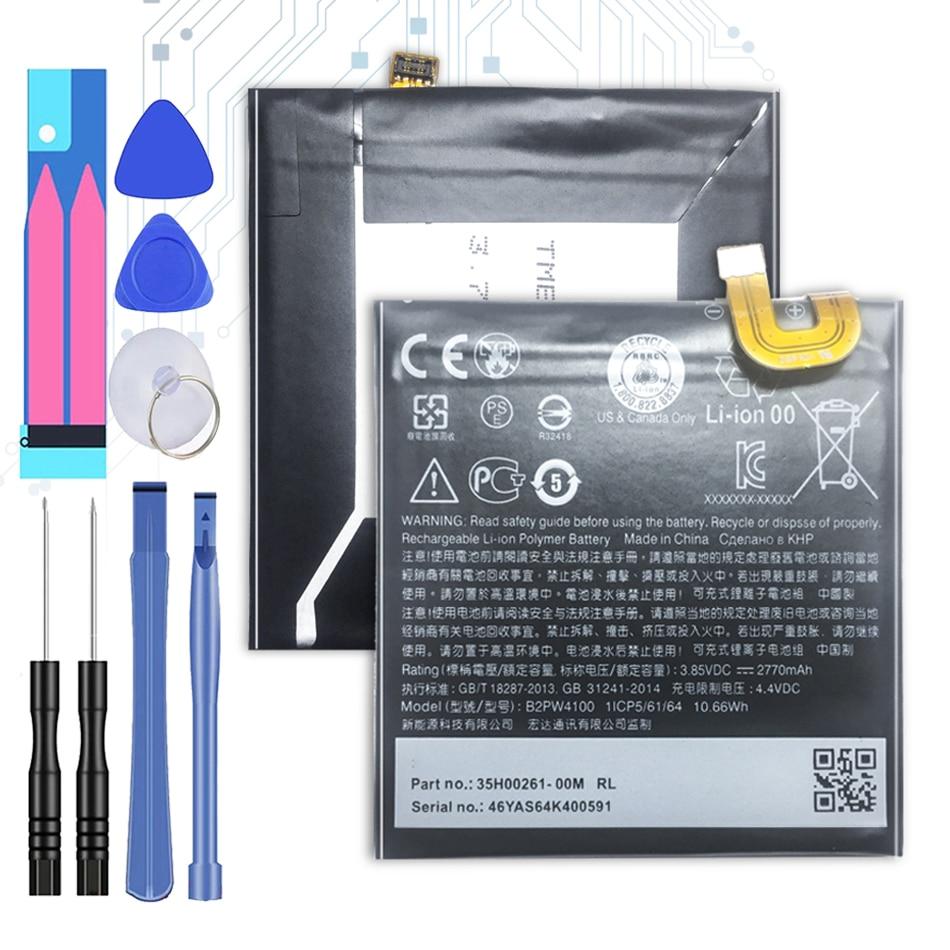 Bateria de 2770 mah para htc google pixel/nexo s1 substituição bateria b2pw4100 + número de rastreamento