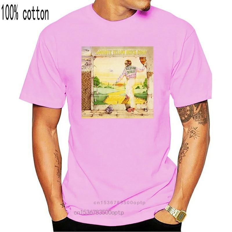 New Elton John Goodbye Yellow Brick Road Black Tee Shirts For Men