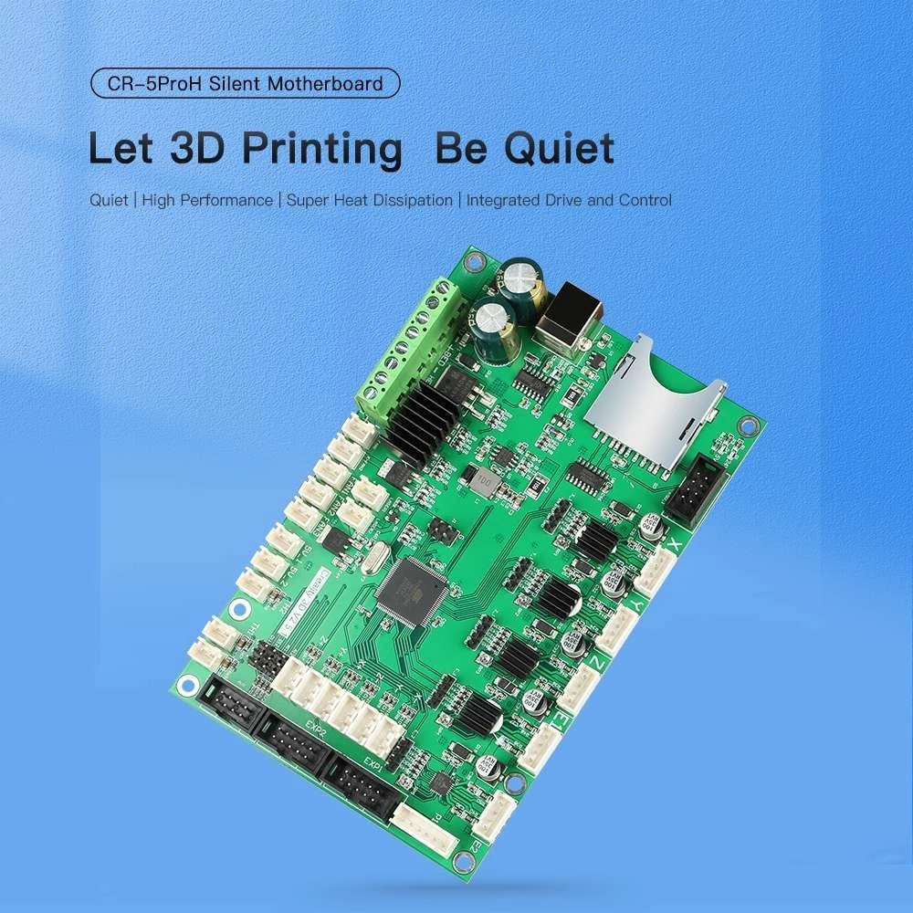 أجزاء طابعة كرياليتي ثلاثية الأبعاد أجزاء أصلية عالية الجودة V2.5.1 TMC2208 لوحة رئيسية صامتة للطابعة CR-5 برو H (CT-380) ثلاثية الأبعاد