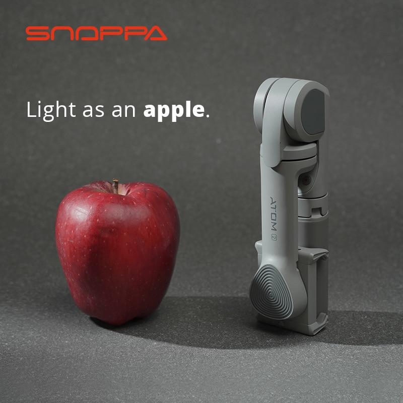 Snoppa ATOM2 3-Axis Handheld Stabilizer Gimbal Wireless Bluetooth Selfie Stick Tripod Phone Anti-Shake ATOM 2 For iPhone Huawei