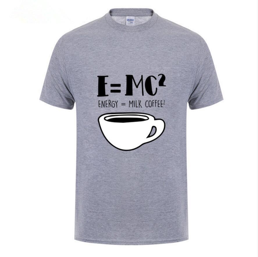 Camisetas para hombre 2020 personalizadas, camiseta de manga corta de algodón con cuello redondo Supernatural para hombres, Camisetas De ciencia física E = MC2, camiseta Retro