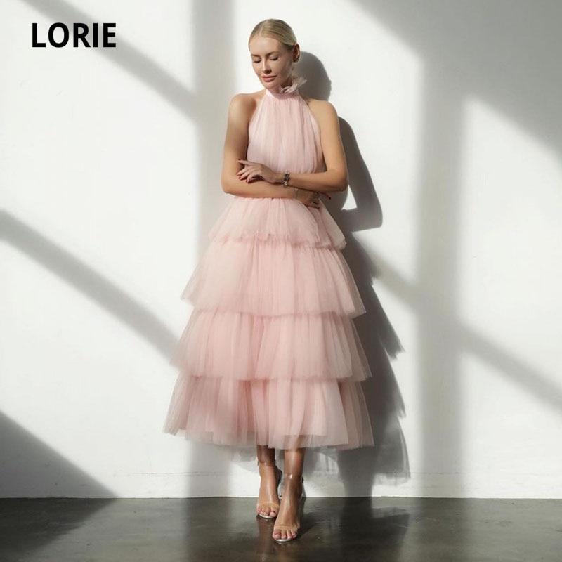 LORIE-فستان حفلة تول وردي للبنات ، فستان زفاف بسيط ، متعدد المستويات ، كب كيك ، مناسبات خاصة ، لون أزرق